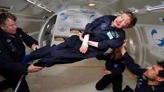 Hawking experimentant la ingravidesa