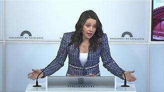 """Inés Arrimadas: """"Turull és un candidat per allargar l'embolic i el despropòsit"""""""