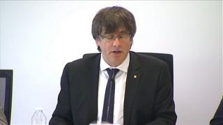 """Per Puigdemont, Catalunya """"està preparada per la decisió de l'1-O""""; Junqueras diu que la signatura del referèdum serà col·legiada"""