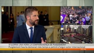 Especial informatiu Puigdemont al Parlament