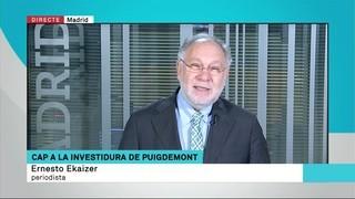 """Ernesto Ekaizer: """"El CNI tem que veiem Puigdemont a la plaça de Sant Jaume fent un míting"""""""