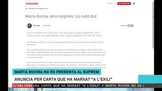 """La carta de Marta Rovira en què anuncia que marxa """"a l'exili"""" i no compareixerà al Suprem"""