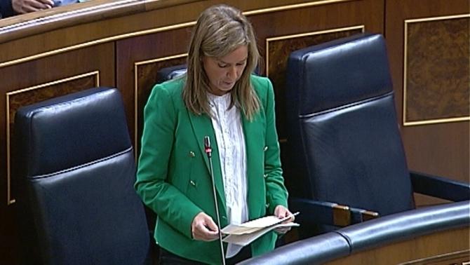 Ana Mato en una intervenció al Congrés.