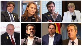 Carles Puigdemont i els diputats electes empresonats i a Brussel·les
