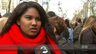 La manifestació del dia de la dona, massiva a Barcelona