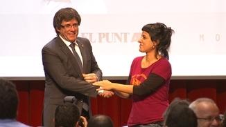 Carles Puigdemont amb Anna Gabriel en una imatge d'arxiu