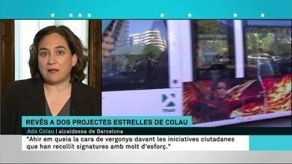 """Ada Colau: """"El rebuig als plans del tramvia i la multiconsulta respon a interessos purament electorals"""""""