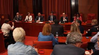 Reunió de govern i Junts pel Sí prèvia al ple dels pressupostos (ACN)