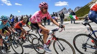 Tom Dumoulin durant la divuitena etapa del Giro (EFE)
