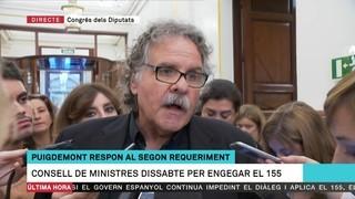 """Joan Tardà (ERC): """"L'1 d'octubre va existir (...) i per això som on som"""""""