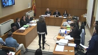 Ester Quintana declarant en el judici