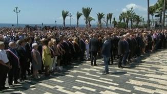 Minut de silenci a Niça per recordar a les víctimes de l'atemptat