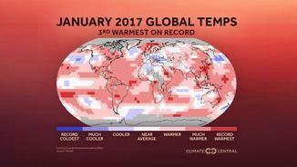 Temperatura global gener 2017 (Climate Central)