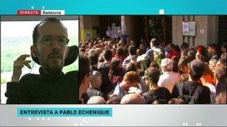 """S'ha de fer fora Mariano Rajoy"", defensa Pablo Echenique (Podem)"