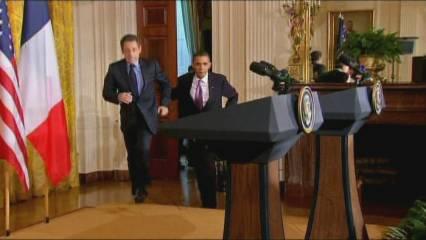Complicitat entre Obama i Sarkozy