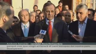 Alexis Tsipras i Andoni Samaras declaracions