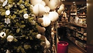 Botiga decorada de Nadal