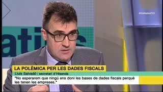 """Lluís Salvadó: """"No esperarem que ningú ens doni les bases de dades fiscals perquè les tenen les empreses"""""""