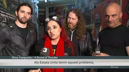 """Comença la gira catalana dels A Sound of Thunder, la banda de heavy-metal dels Estats Units que ha versionat """"Els segadors"""""""
