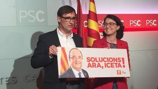 Salvador Illa i Eva Granados presenten el progarma del PSC (@socialistes_cat)