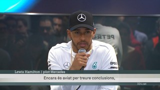 Hamilton domina els tests a Montmeló
