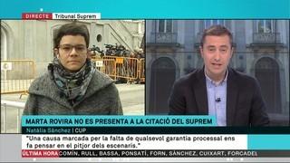 """Natàlia Sànchez: """"Intenten guanyar als tribunals el que no han estat capaços de guanyar a les urnes"""""""