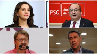 Inés Arrimadas, Miquel Iceta, Xavier Domènech i Xavier García Albiol (ACN)