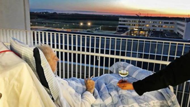 Un hospital danès concedeix el darrer desig a un pacient: vi blanc i un cigarret