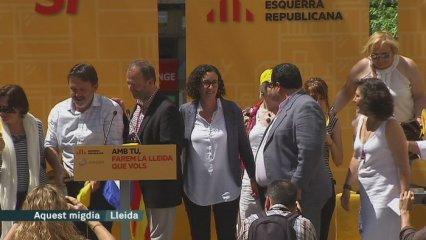 Marta Rovira i Joan Ignasi Elena a Lleida