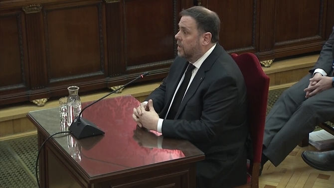 "Junqueras before the Supreme Court: ""I deem myself to be a political prisoner"""