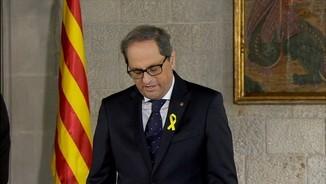 Torra promet el càrrec sense referències al rei ni a la Constitució