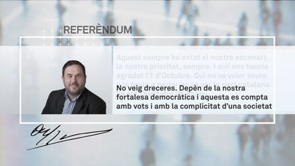 Oriol Junqueras no veu dreceres a l'escenari d'un referèndum d'independència acordat amb l'Estat