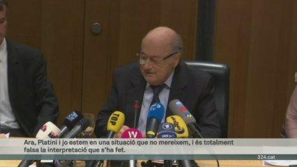 Blatter i Platini, vuit anys d'inhabilitació