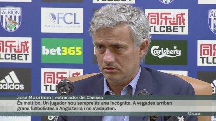 """Mourinho: """"Estic content per Pedro. Ha arribat i de seguida s'ha adaptat"""""""