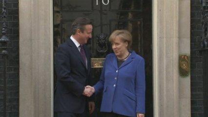 Merkel i Cameron sobre el futur d'Europa