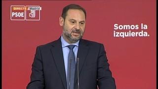 """José Luis Ábalos: """"La invitació no ens sembla sincera, no porta implícit tornar a la legalitat"""""""