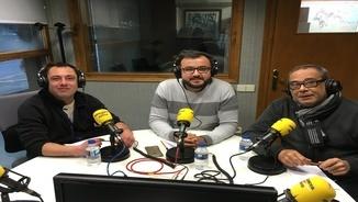 Aué en collòqui auem parlat de politica damb Kiku Sanchís, Jacint Berengueras e Marc Tarrau