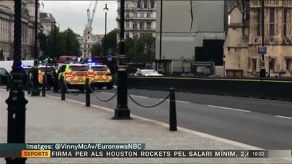 Detingut per estavellar-se amb el cotxe contra les tanques del Parlament britànic