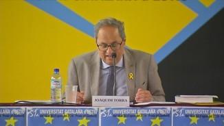 Torra proposa establir una agenda de ruptura democràtica