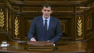 Moments de la investidura: Albert Rivera parla en català