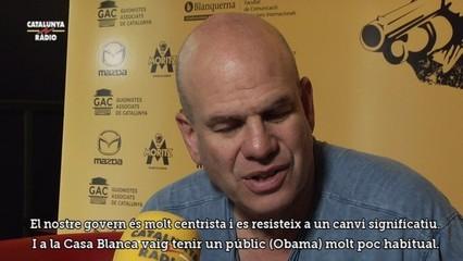 "David Simon, el prestigiós creador de ""The Wire"", rep Catalunya Ràdio"