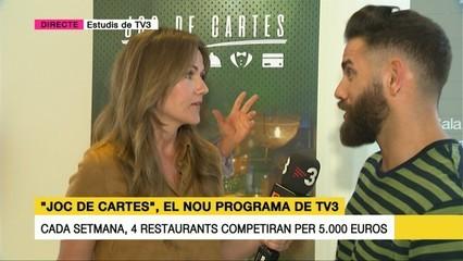 """Marc Ribas explica com serà el nou concurs sobre cuina """"Joc de cartes"""""""