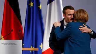 Macron i Merkel escenifiquen un nou eix francoalemany