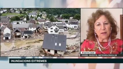 """Carme Llasat: """"Les inundacions a Alemanya i Bèlgica són senyal inequívoc del canvi climàtic"""""""