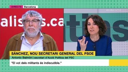 """Antoni Balmón: """"El vot dels militants és indiscutible"""""""