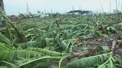 La tempesta tropical Bailu travessa Taiwan