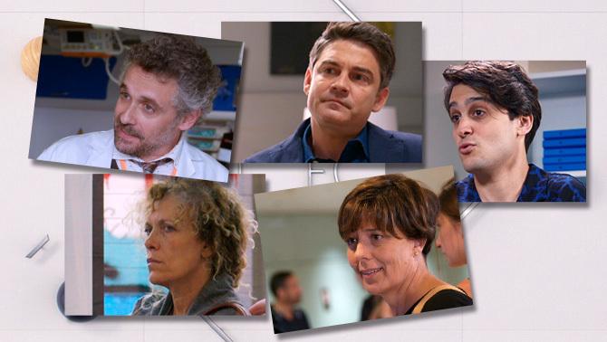 Carme Conesa, Pau Durà, Míriam Iscla, Roger Coma i Bernat Quintana