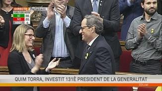 La votació en què Quim Torra és investit 131è president de la Generalitat