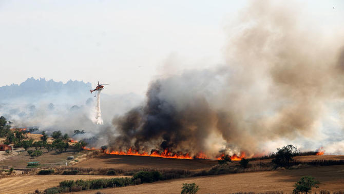 Incendi a Sant Fruitós de Bages