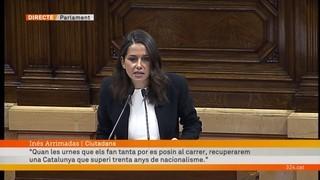 """Inés Arrimadas: """"Mai han tingut una majoria per declarar la independència"""""""